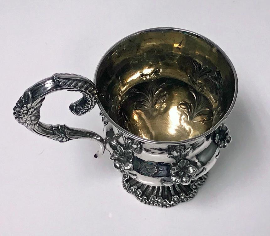 Antique Sterling Silver large Mug, London 1834, Jonathan Hayne
