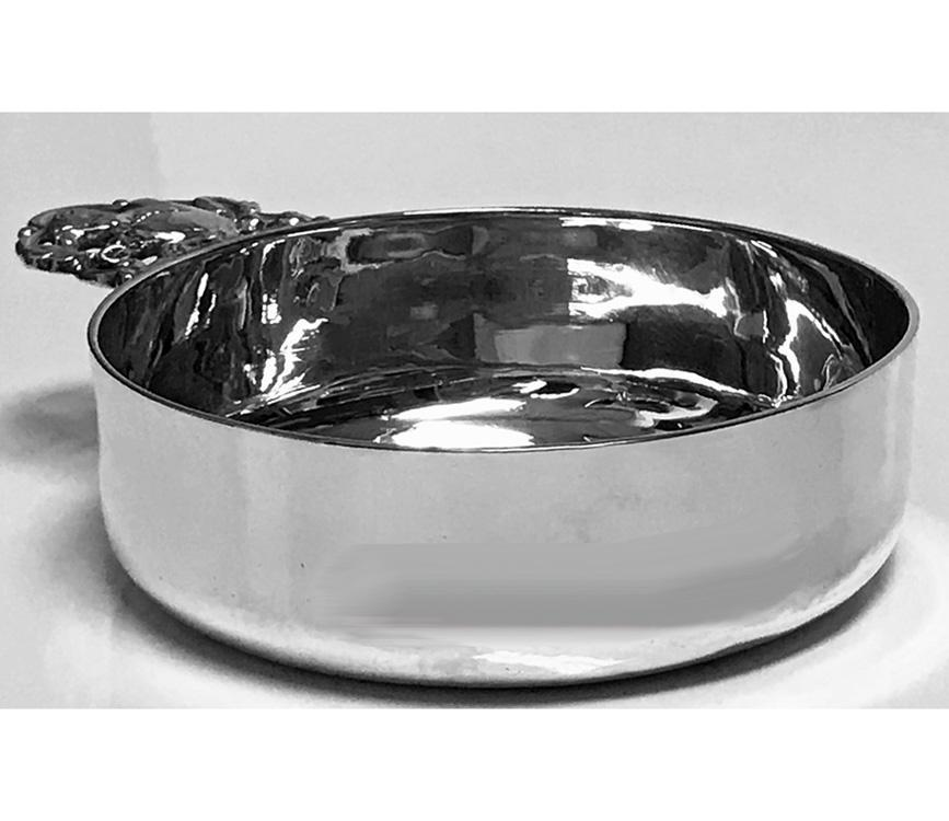 Tiffany Sterling Silver Porringer with Squirrel handle, 1907-1938
