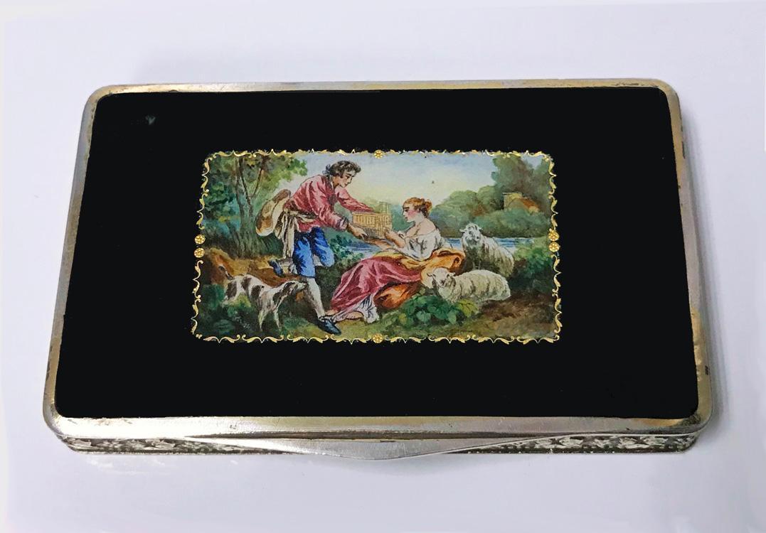 Austrian Sterling Enamel Box C.1920