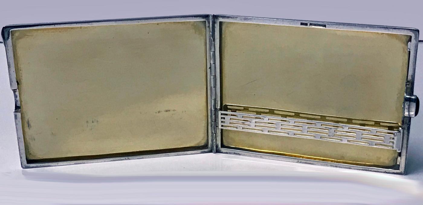 Striking Birks Art Deco Sterling Cigarette or Card Case C.1930