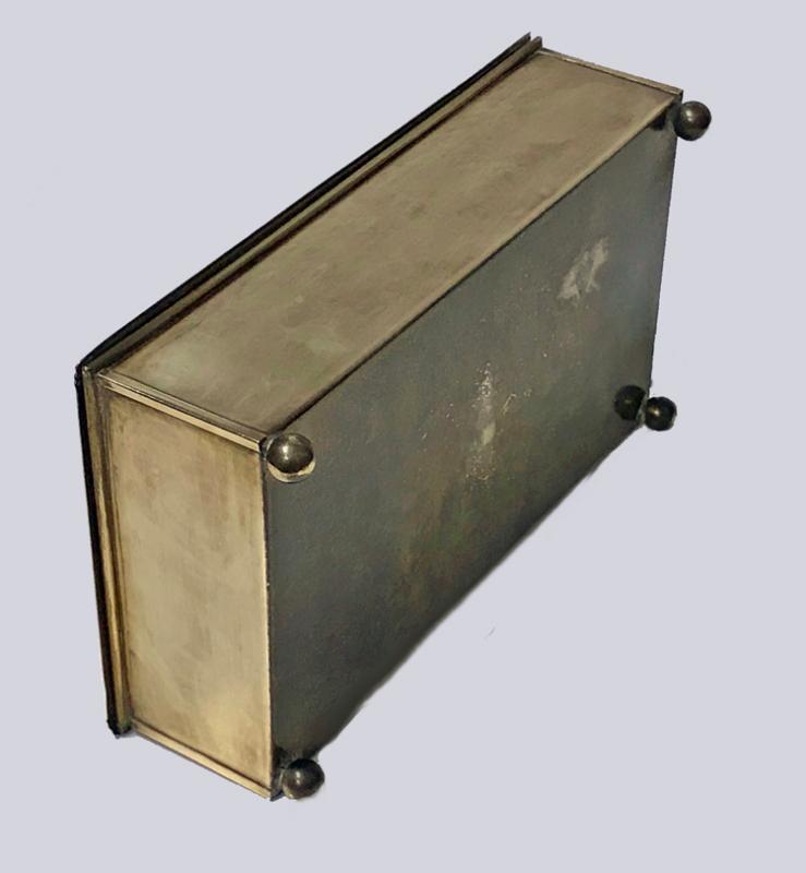 Jugendstil Nouveau Secessionist Brass Box Carl Deffner Germany C.1910.