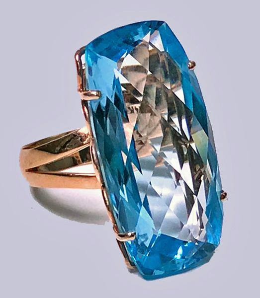 Topaz and Gold custom Ring C.1970.
