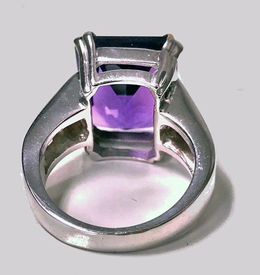 Gold Amethyst Diamond Ring, 20th century
