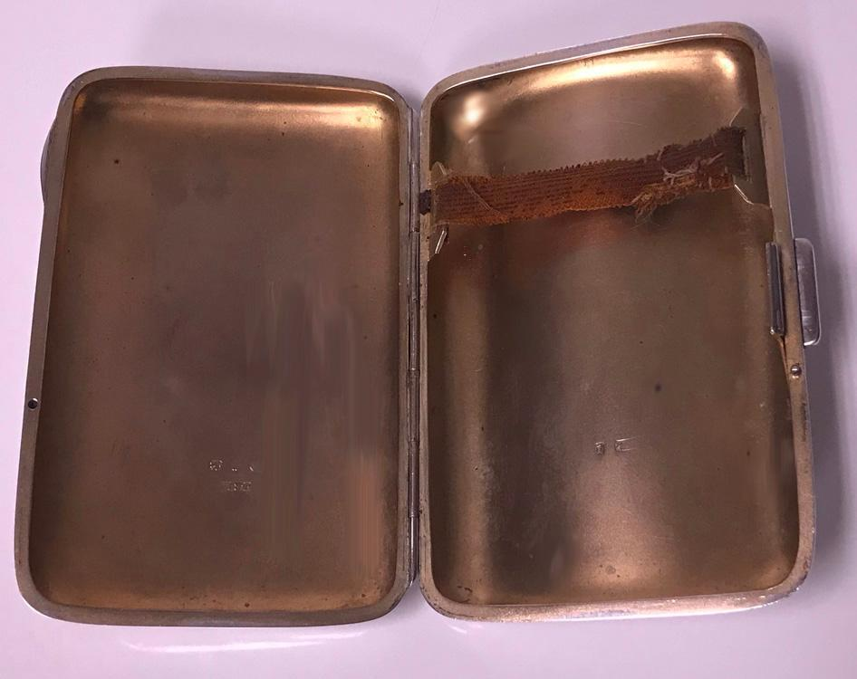 Antique Sterling Silver Cigarette Case, Birmingham 1898 JR