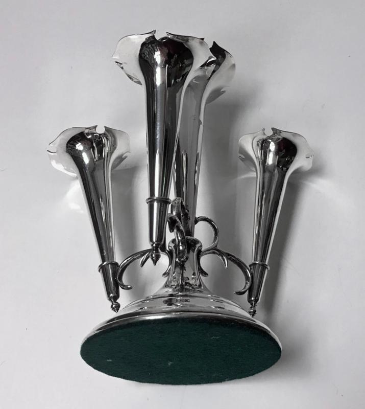 Antique Sterling Silver Epergne Centrepiece, Birmingham 1906, William Hutton and Sons.