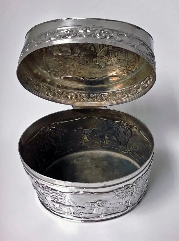 Antique Dutch Silver Tea Caddy H. Hooykaas C.1900