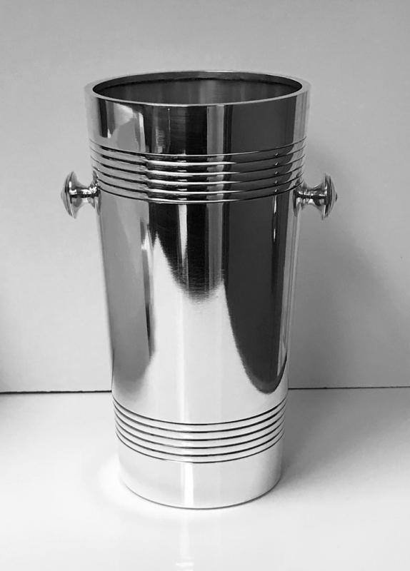 Christofle Wine Bucket Cooler Art Deco Style France