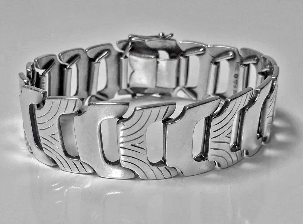 1950's Scandinavian Silver Bracelet Anton Michelsen Sweden 1954.