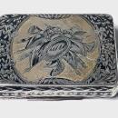 Russian Silver Niello Snuff Box, Nikolaì Lukich Dubrovin 1824