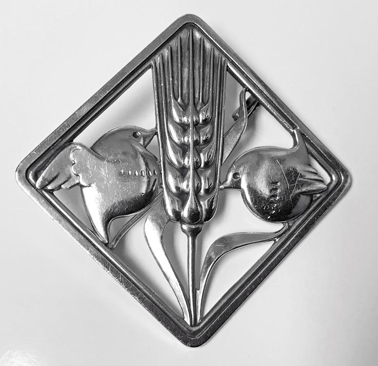 Georg Jensen Art Deco Sterling Silver Birds Brooch 1933-44