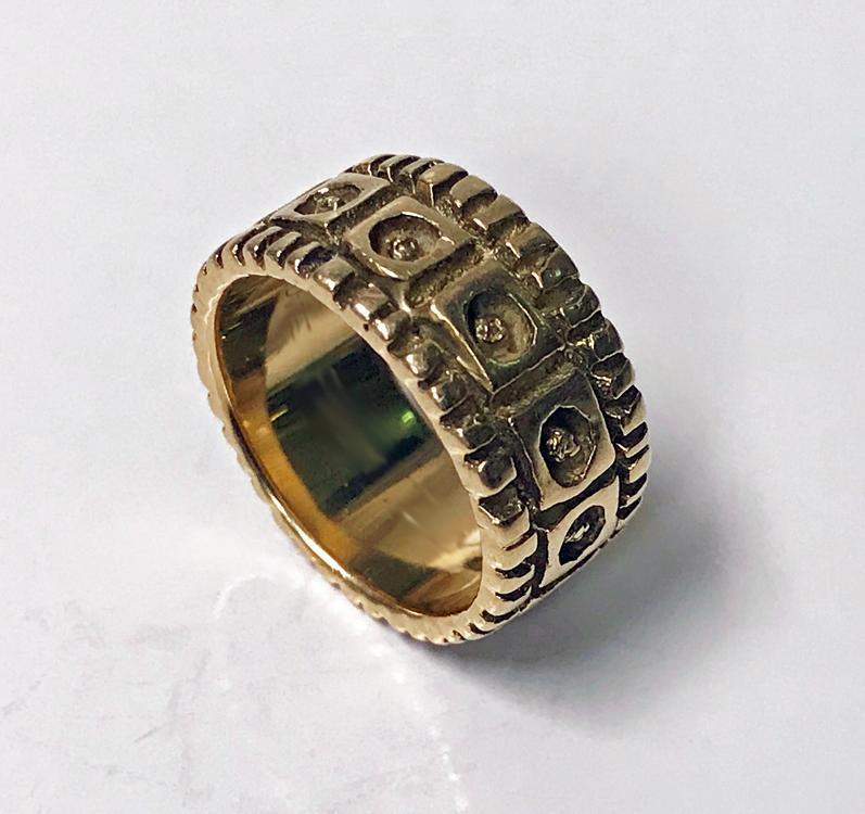 Walter Schluep 18K abstract Ring C.1960.