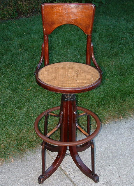 Swell Antique Wood Cane Telephone Operators Chair Circa 1930 Short Links Chair Design For Home Short Linksinfo