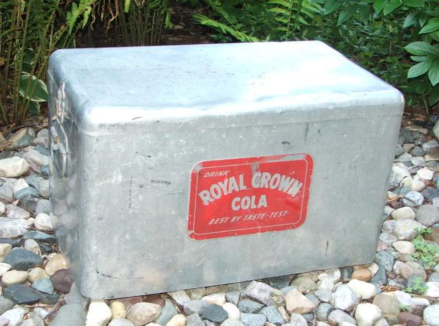 Vintage Fifties RC Royal Crown Cola Aluminum Ice Chest Cooler