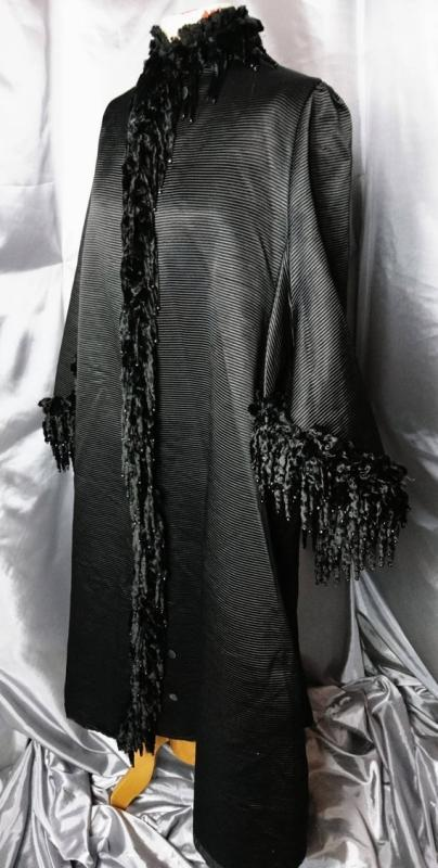 Antique Victorian mourning coat, dolman, jet beaded