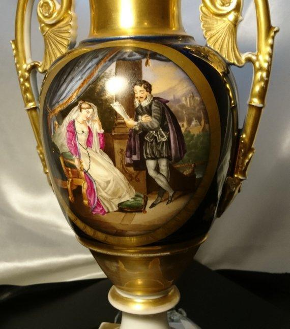 French antique vase, romantic