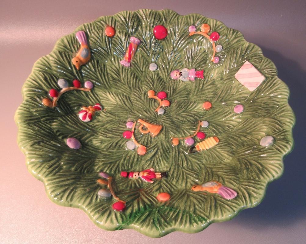 Spode Christmas Tree Pedestal Bowl Prestige Collection Teddy Bear & Boxes