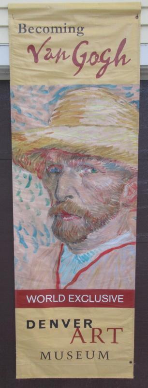 """Denver Art Museum 89"""" Street Banner Vincent Van Gogh Self Portrait Full Color Both Sides Vinyl"""