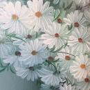 Original Oil On Canvas Painting Of Daisies Signed By Listed Artist Nancy Lee