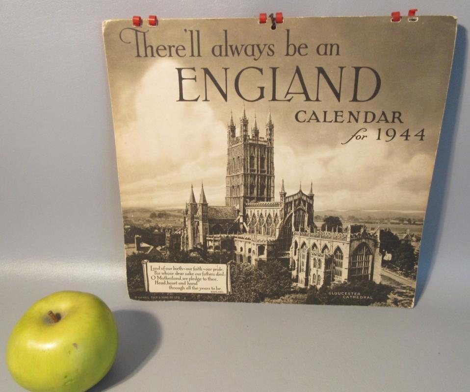 1944 Calendar By Raphael Tuck