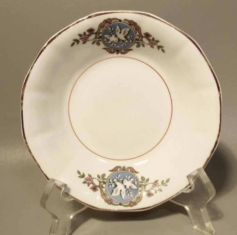 12 Dessert Bowls F.C. Co. French China Martha Washington w/Doves c1920