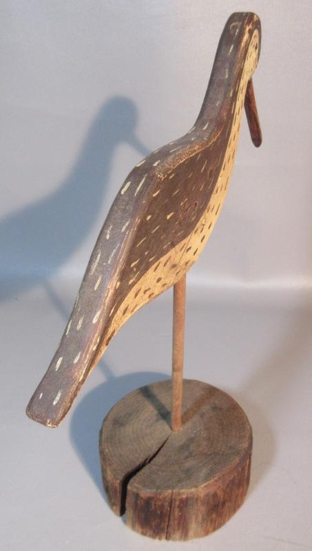 Art Anderson Woodcrafts Decoy Sand Piper Shorebird Hand Carved Flattie Folk Art