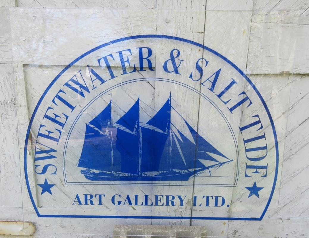 Acrylic Sign 40x34 w/Tall Ship Sweetwater & Salt Tide Art Gallery