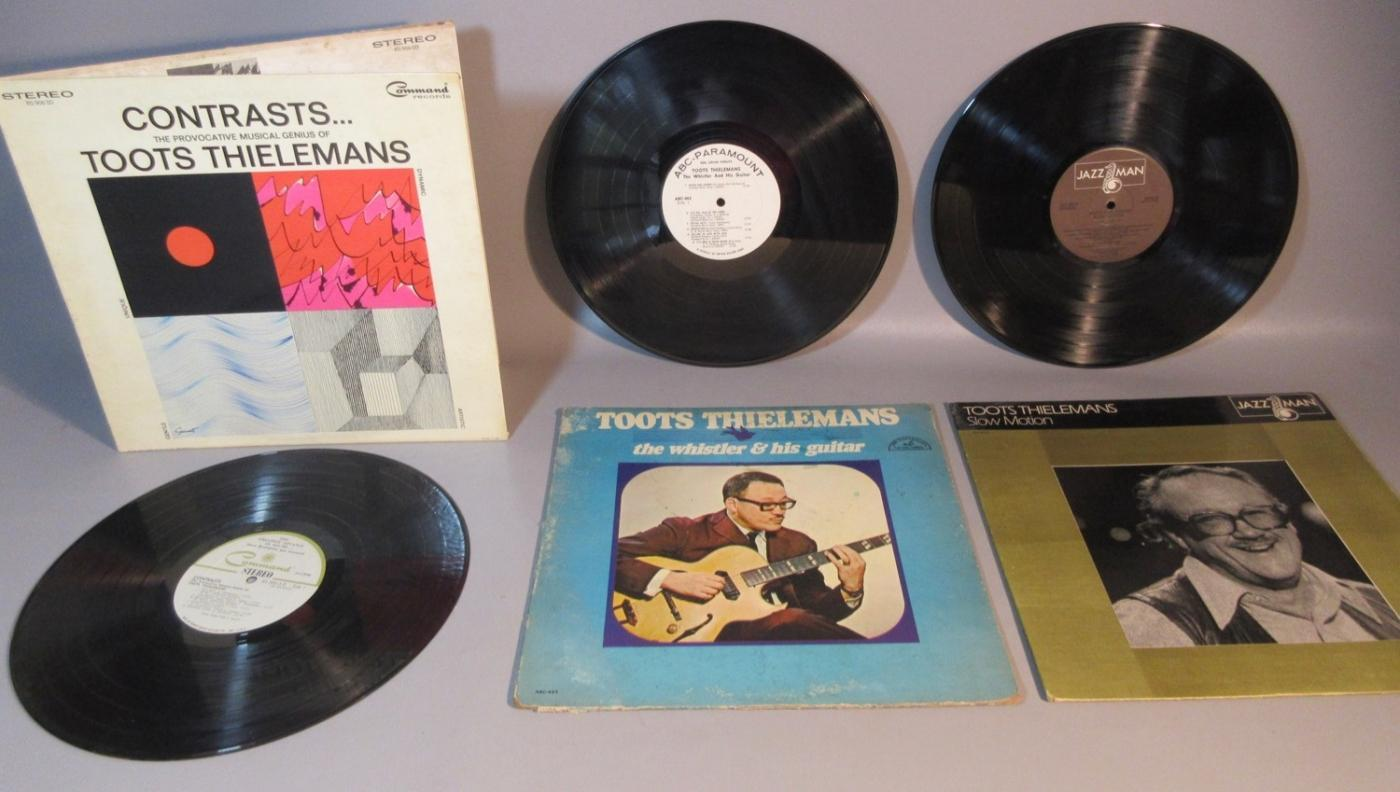 Lot 3 Toots Thielemans 33rpm Albums The Whistler Contracts Slow Motion 1950s-1960s