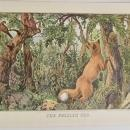 Puzzled Fox Currier & Ives 1950s Print From An 1868 Lithograph w/Hidden Pictures