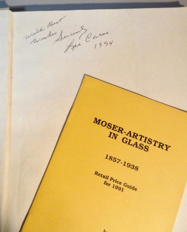 Moser- Artistry In Glass 1857-1938 Hard Cover Book Signed By Author Lee Carno First Edition