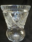 Pretty Cut Crystal Vase or Toothpick