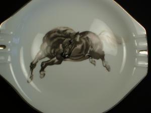 Cool Porcelain Bucking Bronco Ashtray