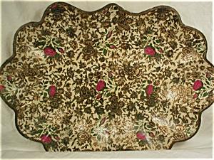 Lacquer or Paper Mache Chintz Bowl