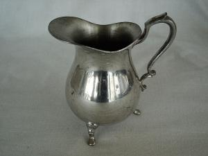 Nice Pewter Footed Creamer