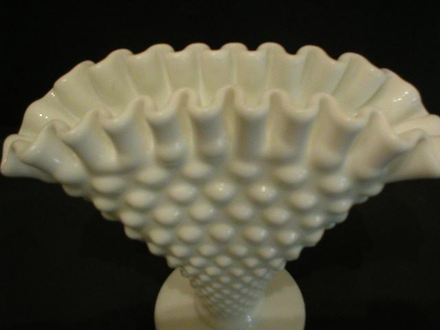 Fenton Milk Glass Fan Vase Fenton Pottery & Glass