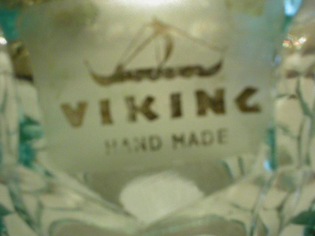 Viking Glass Fairy Lamp Replacement Top - Georgian Pattern - Blue