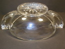 Nice Flower Cut Imperial Glass Pickle Dish