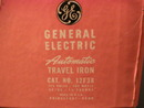 Vintage General Electric Automatic Travel Iron w/ Box
