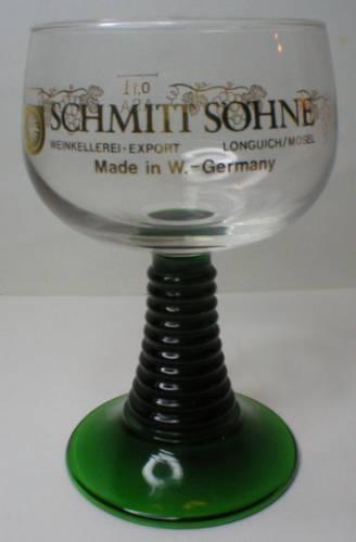 Schmitt Sohne Green Stem Glass Roemer