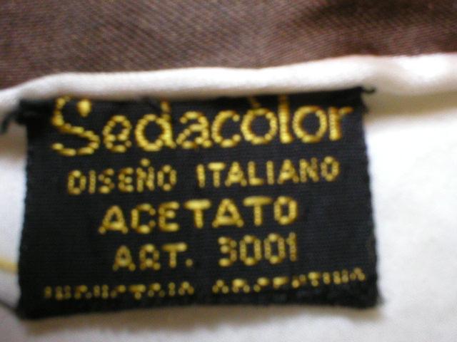 Gorgeous Retro Mod Sedacolor Fringe Scarf