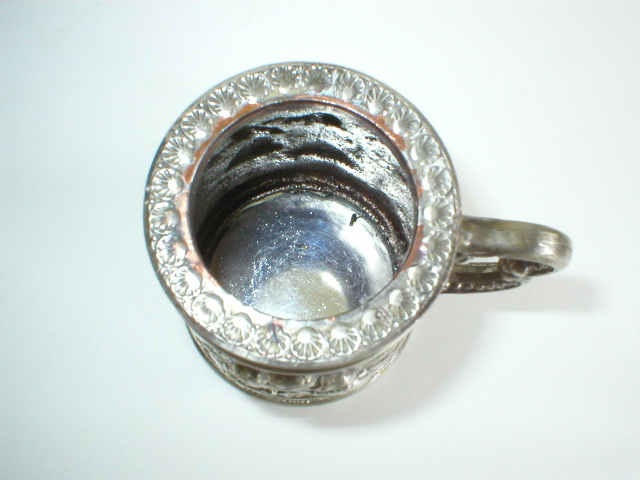 Silver Plated Courting Couples Figural Stein Table Lighter