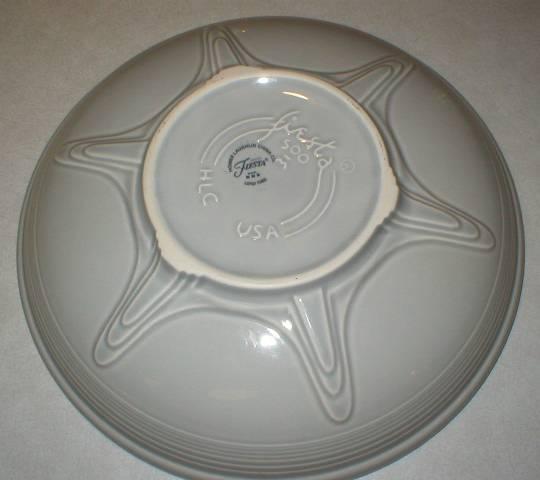 Homer Laughlin Fiesta Presentation Bowl -  Gray