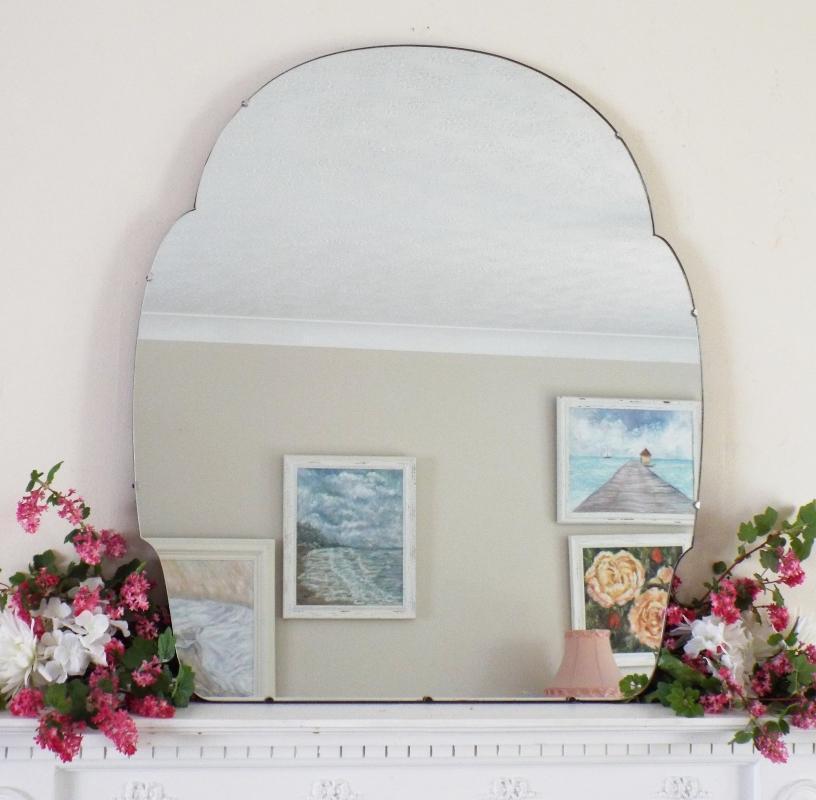 Art Deco Mirror Large Cloud Mirror Antique Mirror Frameless Mirror M396
