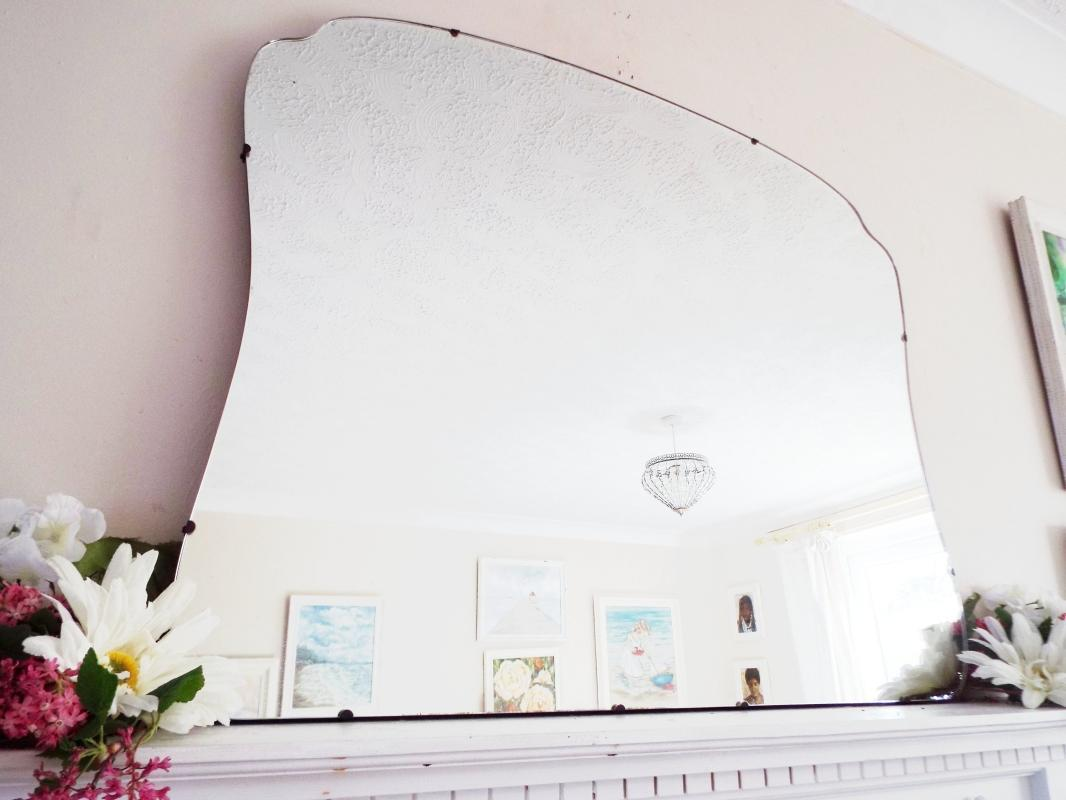 Extra Large Antique Mirror Art Deco Mirror Frameless mirror Feature Wall Mirror  M402