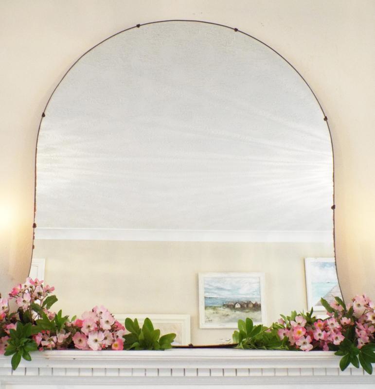 Large Frameless Art Deco Wall Mirror Vintage Bevelled Edge Mirror M289