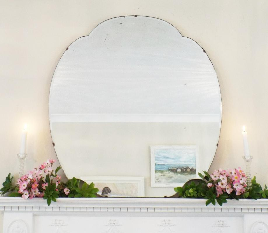 Extra Large Feature Wall Mirror Vintage Cloud Shaped Mirror Art Deco Mirror Frameless mirror Bevelled Edge Mirror M290