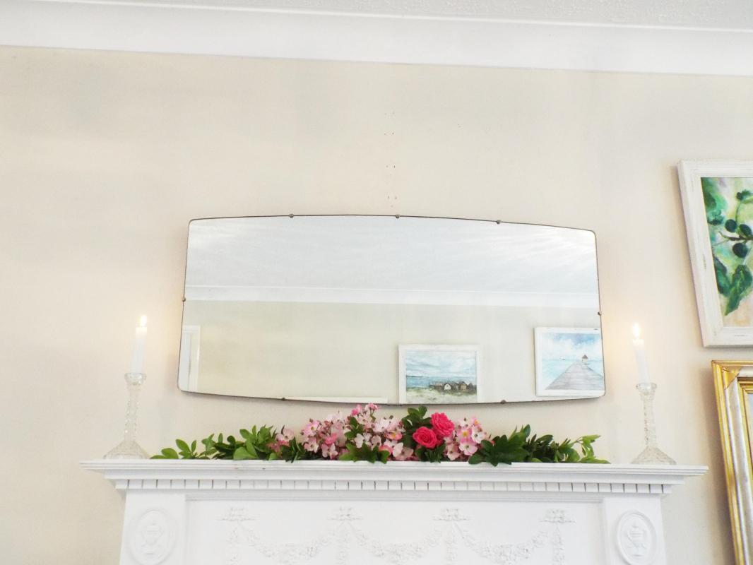 Modernist Mirror Extra Large Mid-Century Vintage Mirror Art Deco Mirror Frameless mirror Bevel Edge Mirror Feature Wall Mirror  M287