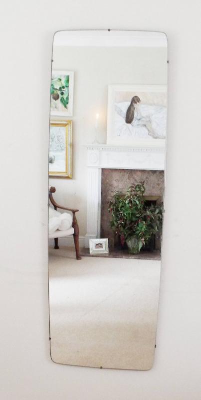 Modernist Mirror Extra Large Mid-Century Vintage Mirror Art Deco Mirror Frameless mirror Feature Wall Mirror  M286