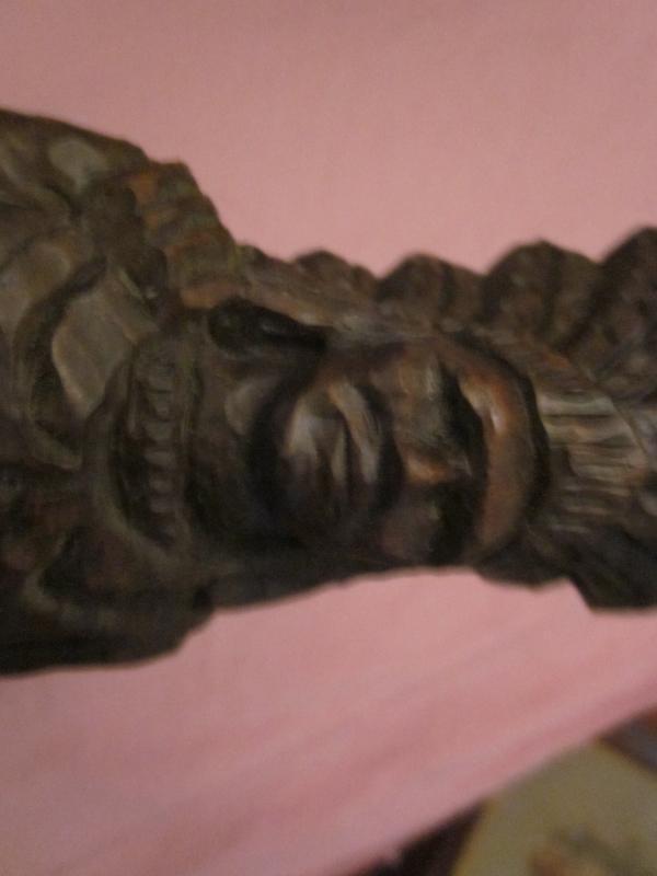 Native American Indian Wood Statue, looks and feels like oak