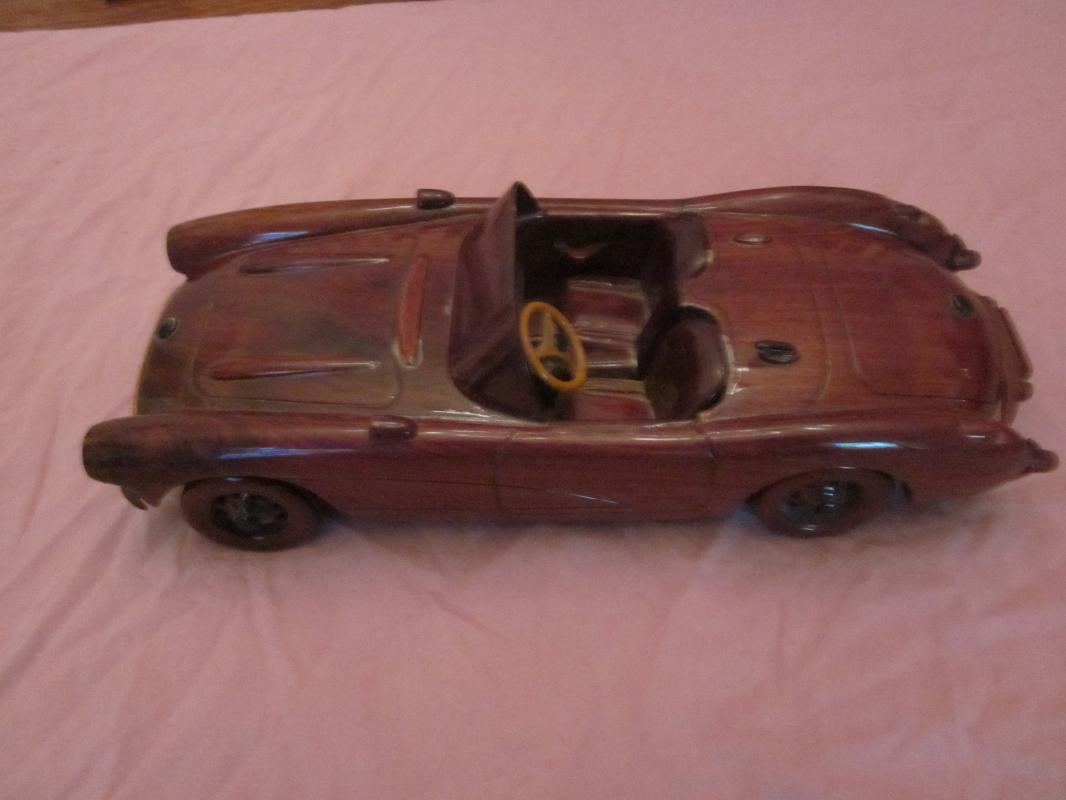 1962 Chevrolet Corvette Wooden Car Model
