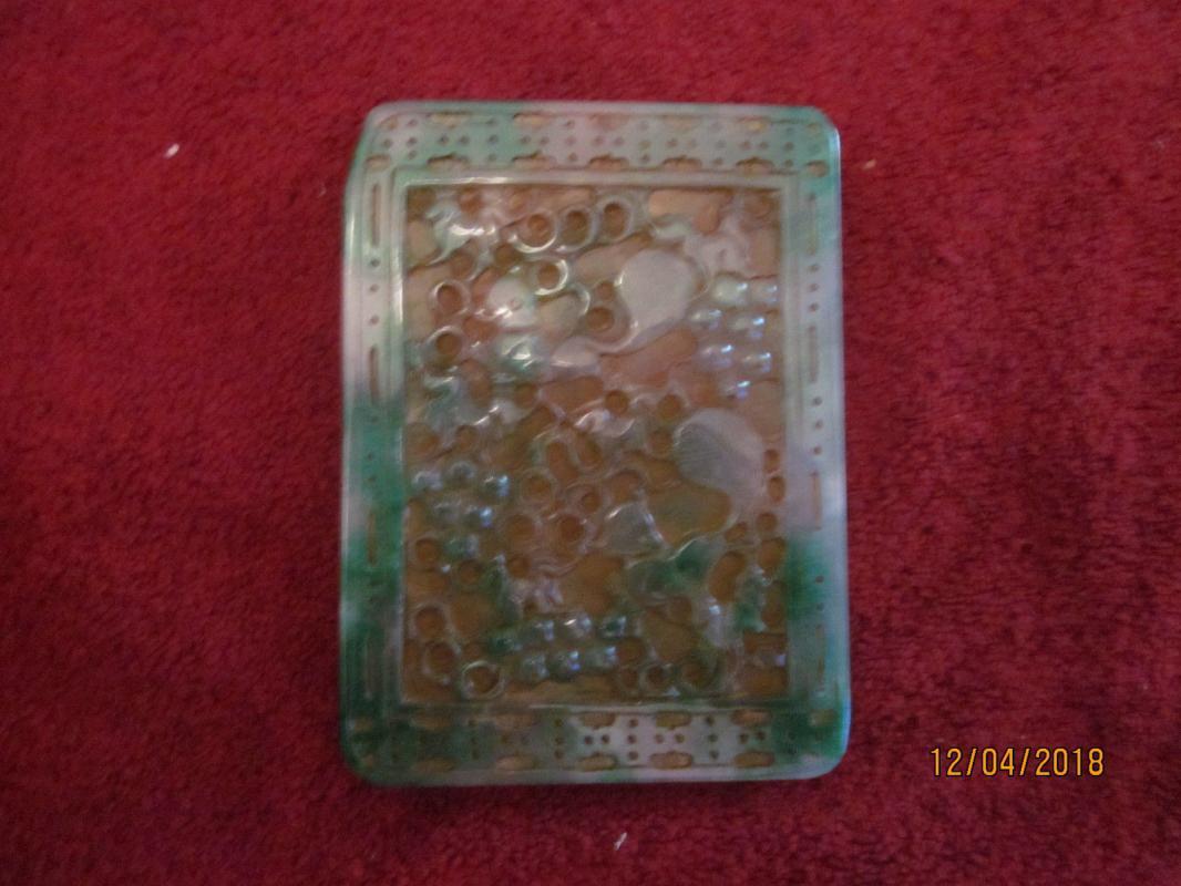 Chinese Spinach Jadeite [S.G.=3.25] Amulet, 269 grams
